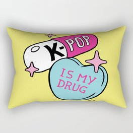 K-POP is my Drug Rectangular Pillow