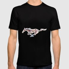 Mustang..... Mens Fitted Tee LARGE Black