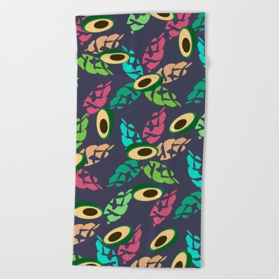 Strange avocados Beach Towel