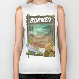 Borneo Jungle poster. Biker Tank