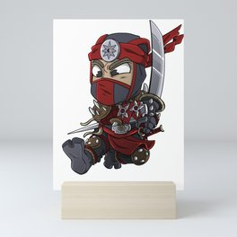 Hippo samurai warrior shirt are best for people who loves everything about japan. Everything from th Mini Art Print