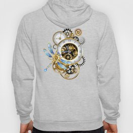 Dials with Dragonfly ( Steampunk ) Hoody