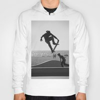 skateboard Hoodies featuring Skateboard Freedom by Scotty Photography