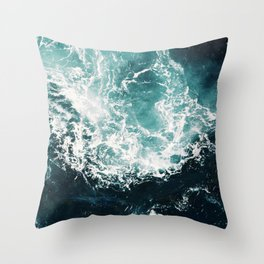 Sea waves II Throw Pillow