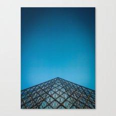 Paris, la pyramide du Louvre, Top Canvas Print