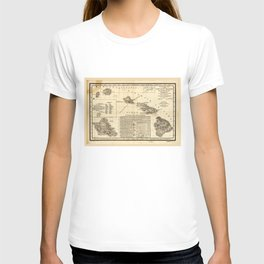 Topographical map of the Hawaiian Islands (1893) T-shirt