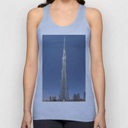 Burj Khalifa in daylight Unisex Tank Top