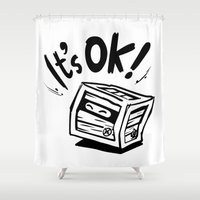 tim burton Shower Curtains featuring Markiplier x Tiny Box Tim by pazo