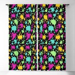 Colorful Paint Splatter Pattern Blackout Curtain
