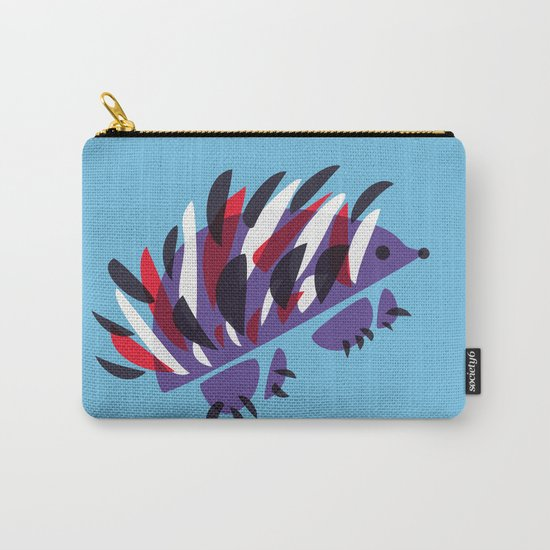 Colorful Abstract Hedgehog Carry-All Pouch