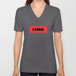 LIMA LOGO Unisex V-Neck