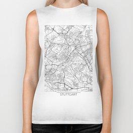 Stuttgart Map White Biker Tank