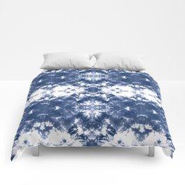 Shibori Tie Dye Indigo Blue Comforters