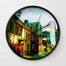 Chinatown Colour Wall Clock