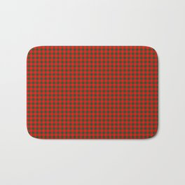 Tiny Holly Red and Balsam Green Christmas Country Cabin Buffalo Check Bath Mat