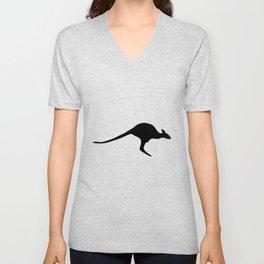 Silhouette Kangaroo Unisex V-Neck
