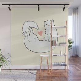 Ferret Print Wall Mural
