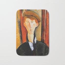 "Amedeo Modigliani ""Young Man with Cap"" Bath Mat"