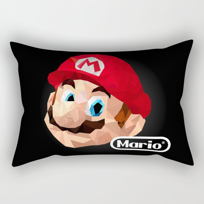 Mario Poster Rectangular Pillow