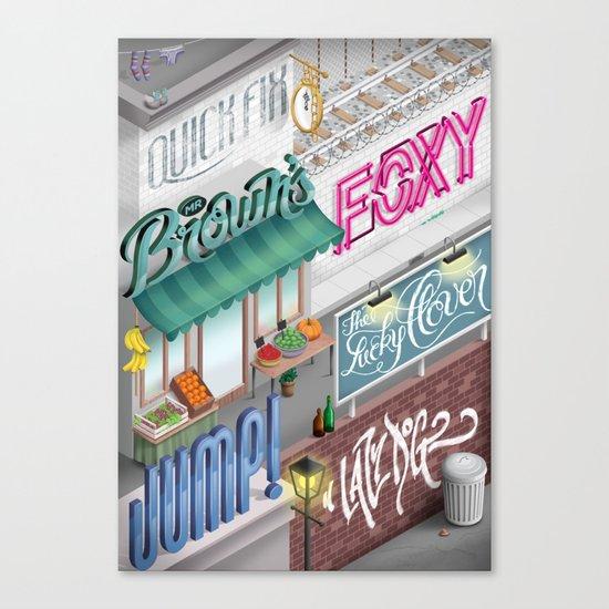 City Pangrams Canvas Print