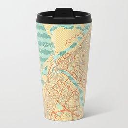 Dubai Map Retro Travel Mug