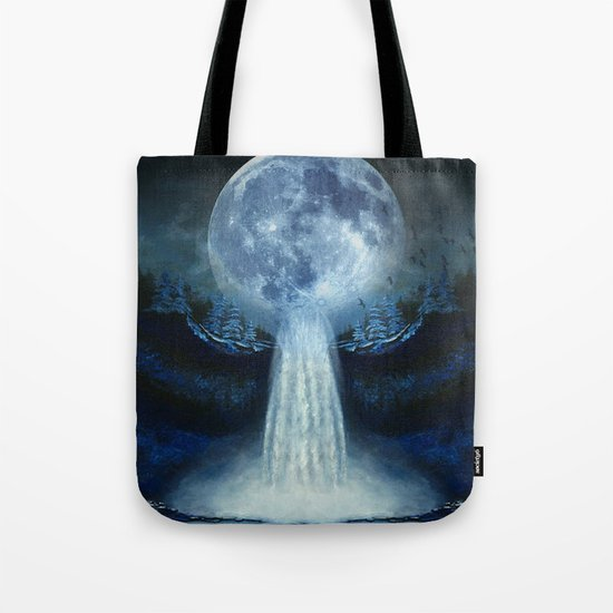waterfall moon Tote Bag