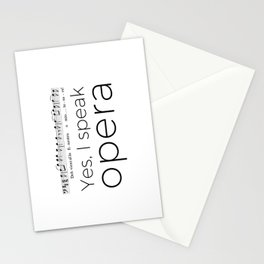 I speak opera (baritone) Stationery Cards