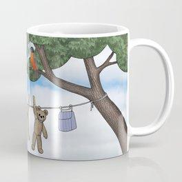 robins, poppies, & teddy bears on the line Coffee Mug