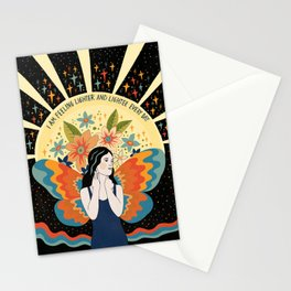 Feeling lighter and lighter Stationery Cards