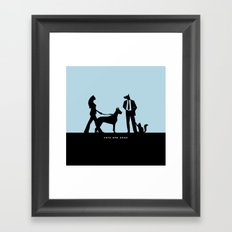 cats and dogs Framed Art Print