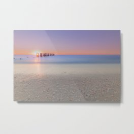 Naples Beach Sunset at 3rd Ave Metal Print