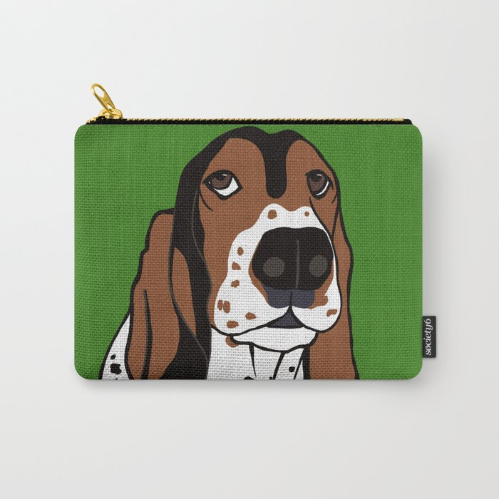 A Dog Mom and Her Basset Hound Carry-All Pouch