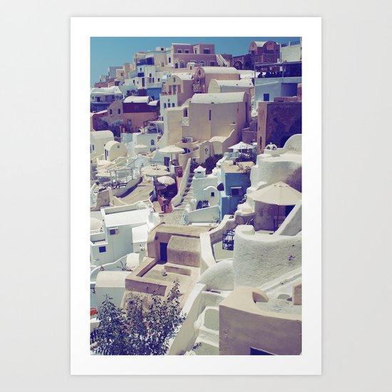 Oia, Santorini, Greece Art Print