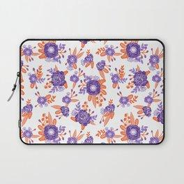 University football fan alumni clemson orange and purple floral flowers gifts Laptop Sleeve
