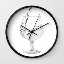 Water or Wine Wall Clock