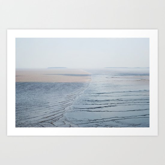 Mud Flats Art Print