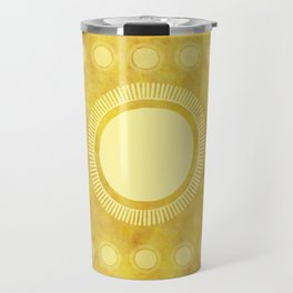 """Gold & Yellow Ethnic Sun Mandala"" Travel Mug"