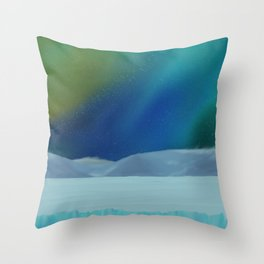 Starry Light Night Throw Pillow
