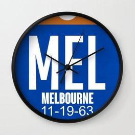 MEL Melbourne Luggage Tag 2 Wall Clock