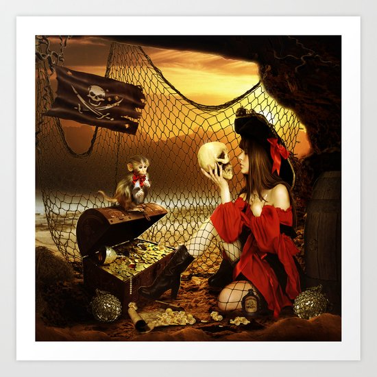 Pirate Treasure Art Print