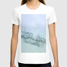 Light Seafoam Light Blue Glitter #1 #shiny #decor #art #society6 T-shirt