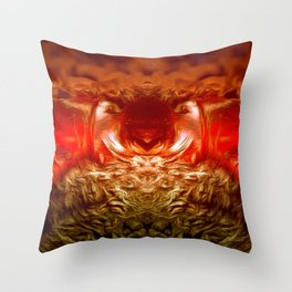 Dark Amber nightmare Throw Pillow