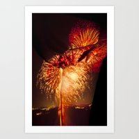Wanderlust - Behind the Fire Art Print