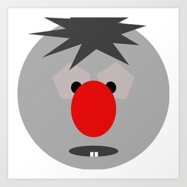 The BIG RED nose  Art Print