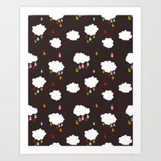 Rainclouds Black Art Print