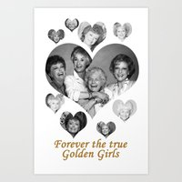 golden girls Art Prints featuring The Golden Girls by BeeJL