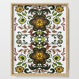 Shenkura Folk Art Pattern Serving Tray
