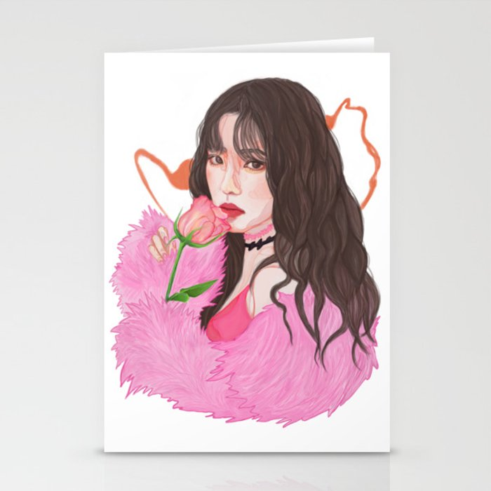 Irene Red Velvet Bad Boy Stationery Cards By Kurisuart Society6