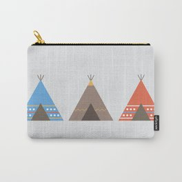 Three Teepees Carry-All Pouch
