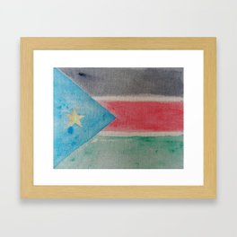 Newest Nation on Earth (S.Sudan) Framed Art Print